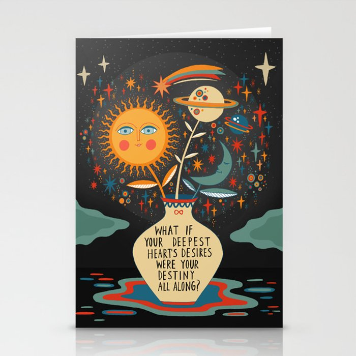 Deepest heart's desires Stationery Cards