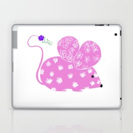 Miss Mousy Pinkie with Purple Petunia Laptop & iPad Skin