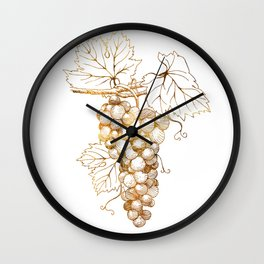 Grapes of Dionysus God of Wine Wall Clock