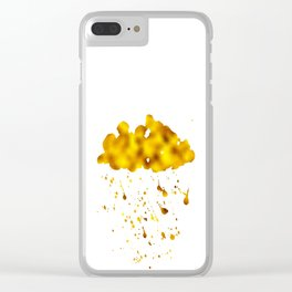 Gold Clouds Poison Rain Clear iPhone Case