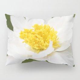 White Krinkled Peony in Bloom Pillow Sham
