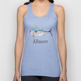 A is for Albacore Unisex Tank Top