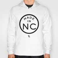 north carolina Hoodies featuring NC North Carolina (black) by DCMBR - December Creative Group