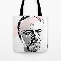 phil jones Tote Bags featuring Phil by Aaron Synaptyx Fimister
