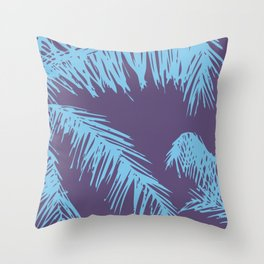 Ultra Violet Palm Print Throw Pillow