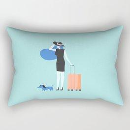 traveling is always good Rectangular Pillow
