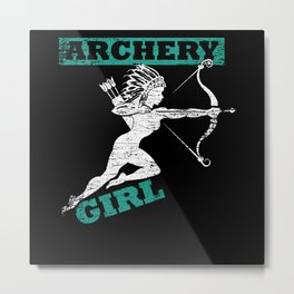 Archery Woman Metal Print