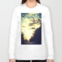 texas Long Sleeve T-shirts featuring Texas by Camille Renee