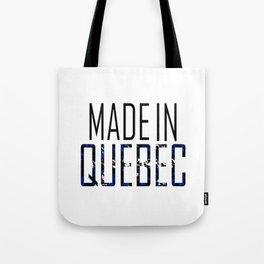 Made In Quebec Tote Bag