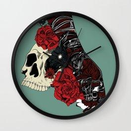 Grief on fingertips Wall Clock
