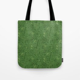 Inventory in Green Tote Bag