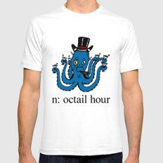 Octail Hour White SMALL Mens Fitted Tee