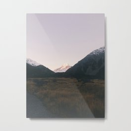 The road to mount Cook Metal Print