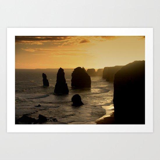 Sunset over the Twelve Apostles Art Print