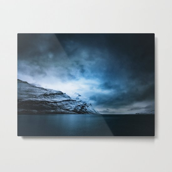 The Arctic - Storm Over Still Water Metal Print