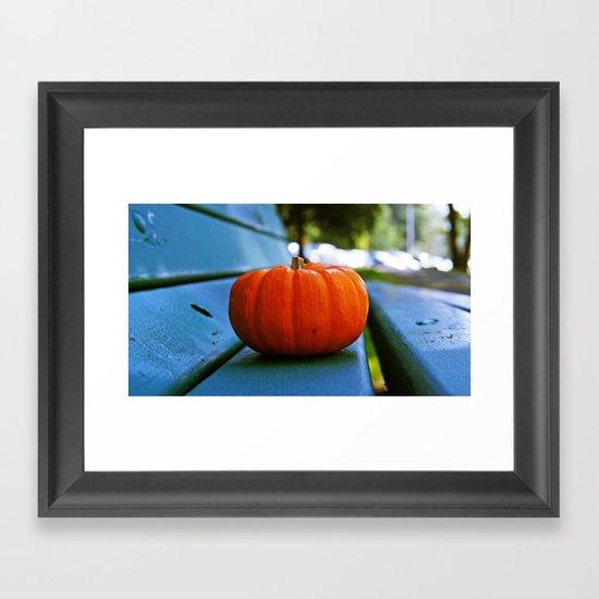 Park pumpkin Framed Art Print