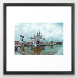 Dismaland Castle Panorama Framed Art Print