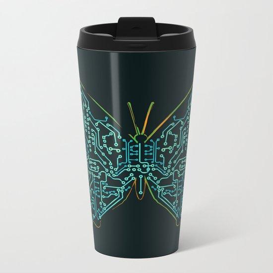 Mechanical Butterfly Metal Travel Mug