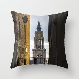 TOLEDO'S CATHEDRAL Throw Pillow