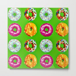 Donuts on green Metal Print