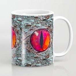 BLAZING RED DRAGON'S EYE & SCALY GREY  SKIN FROM  ART Coffee Mug