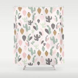 Pastel Cactus Shower Curtain