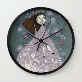 Clouds in June, Make them Bloom Wall Clock