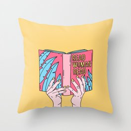 Read woman read Throw Pillow