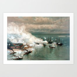 Battle Of Mobile Bay -- Civil War Art Print