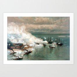 Battle Of Mobile Bay -- Civil War Art Print