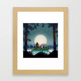 Bear and Fox Framed Art Print