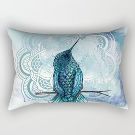 Aquarela hummingbird Rectangular Pillow