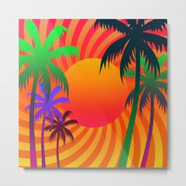 Tropical Sunset 3 Metal Print