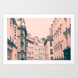 Paris Pink Montmartre Art Print