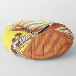 Vintage poster - Southern California Floor Pillow
