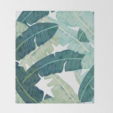Tropical oasis Throw Blanket