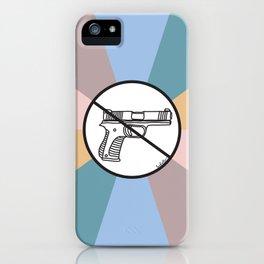 No Guns 2 iPhone Case