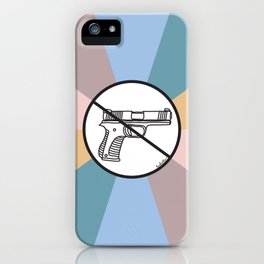 No Guns 2 iPhone Case