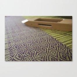 Purple green twill Canvas Print