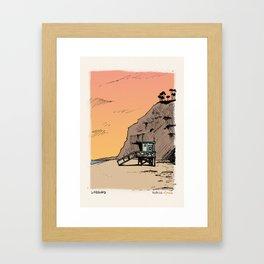 Beach Cop Detectives 01 -Lifeguard Framed Art Print