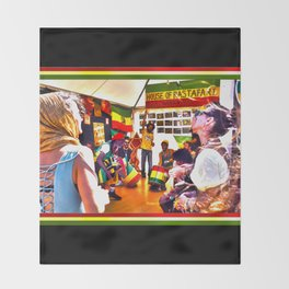 House Of Rastafari / Rototom Sunsplash 2011 Throw Blanket