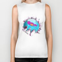 edm Biker Tanks featuring Edm Pure Love - Dope Ghost by Dope Ghost