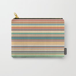 Multicolor horizontal stripes background Carry-All Pouch