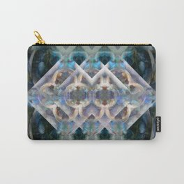 Abstract Multi-Colored Fractal (Night) Carry-All Pouch