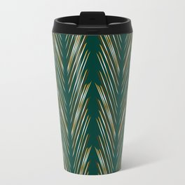 Wheat Grass Teal Travel Mug