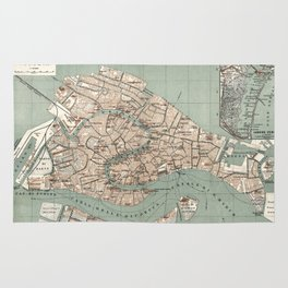 Map of Venice - 1886 Rug