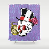 gentleman Shower Curtains featuring Dead Gentleman by 8BOMB