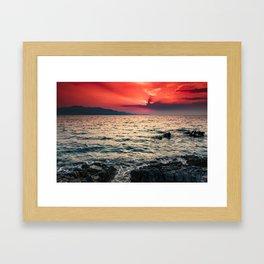 Ionian sea II Framed Art Print