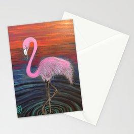 Flamingo at sunset  Stationery Cards