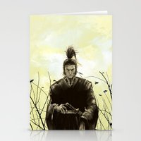 samurai Stationery Cards featuring Samurai by Tony Vazquez